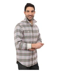 Tommy Bahama | Gray Flannel Time! Plaid Long Sleeve for Men | Lyst