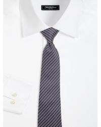 Armani   Blue Narrow Stripe Silk Tie for Men   Lyst
