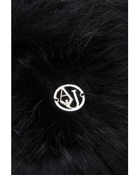 Armani Jeans - Black Rabbit Fur Hat - Lyst