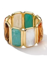 Ippolita - Metallic 18k Gold Rock Candy Gelato Fancy Rectangle Lollipop Ring - Lyst