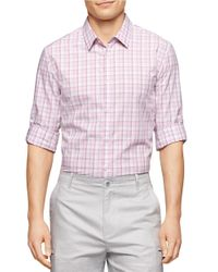 Calvin Klein | Purple Tartan Plaid Sportshirt for Men | Lyst
