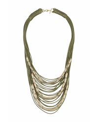 TOPSHOP | Green Cord And Metal Multirow | Lyst