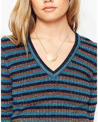 ASOS   Metallic Sleek Circle Necklace   Lyst