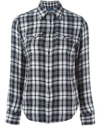 Polo Ralph Lauren - Black Flannel Shirt - Lyst