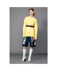 Acne Studios - Yellow Nikoleta Fl Cotton-Blend Sweatshirt - Lyst
