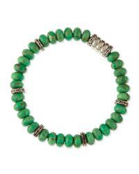 John Hardy - Green Mens Mohave Bedeg Beaded Bracelet - Lyst