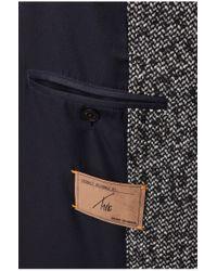 BOSS Orange | Black Short Coat 'barrets' In Salt-and-pepper Look for Men | Lyst