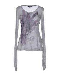 CoSTUME NATIONAL - Gray T-shirt - Lyst