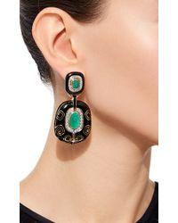 David Webb - Green Couture Lantern Earrings - Lyst
