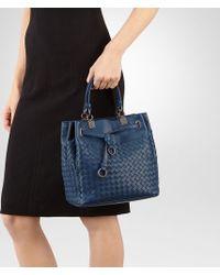 8c2867045b37 Bottega Veneta Bucket Bag In Pacific Intrecciato Nappa in Blue - Lyst