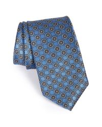 JZ Richards - Blue Medallion Woven Silk Tie for Men - Lyst