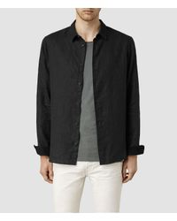 AllSaints | Black Bosquet Shirt for Men | Lyst