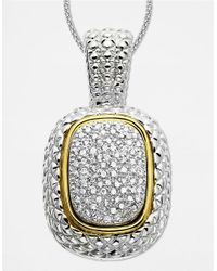 Lord & Taylor | Metallic 14k Gold And Sterling Silver Diamond Pave Necklace | Lyst