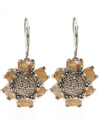 Stephen Dweck - Metallic Silver Rutilated Quartz And Diamond Earrings - Lyst
