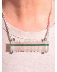 Lily Kamper - Green Peach & Jade Side Column Pendant - Lyst