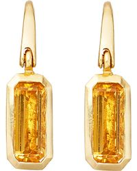 Astley Clarke | Metallic 18ct Gold Vermeil Citrine Drop Earrings | Lyst