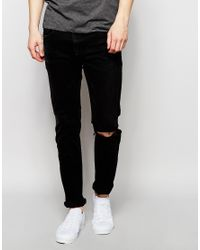 Calvin Klein Jeans | In Skinny Fit With Rips In Black for Men | Lyst