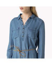 Tommy Hilfiger | Blue Cotton Viscose Dress | Lyst