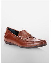 Calvin Klein - Brown White Label Walden Leather Loafer - Lyst