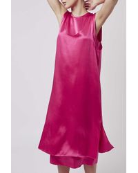 TOPSHOP - Pink Double Layer Satin Dress By Boutique - Lyst