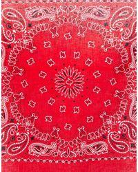 ASOS - Red Bandana Print Headscarf - Lyst