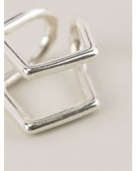 Coops London - Metallic 'kite' Squeeze On Earrings - Lyst