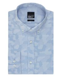 William Rast | Blue Slim Fit Camouflage Dress Shirt for Men | Lyst