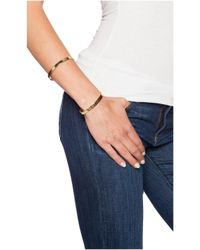 Vanessa Mooney | Metallic The Riot Double Cuff Bracelet | Lyst