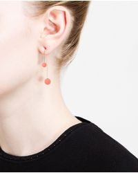 Asherali Knopfer - Pink Gold And Opal Bar Earring - Lyst