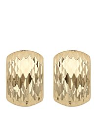 Lord & Taylor | Metallic 14kt. Yellow Gold Textured Earrings | Lyst