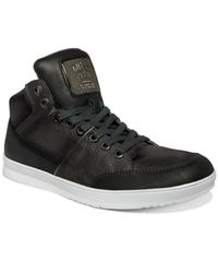 Guess | Black Men'S Shoes, Thyme Hi-Top Sneakers for Men | Lyst