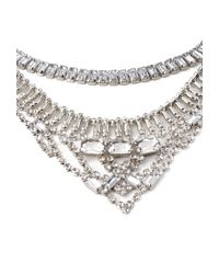 Forever 21 | Metallic Layered Rhinestone Chain Necklace | Lyst
