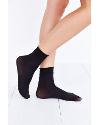 Urban Outfitters - Black Gipsy Opaque Bobby Sock - Lyst
