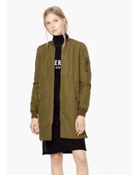 Mango - Natural Zip Textured Jacket - Lyst