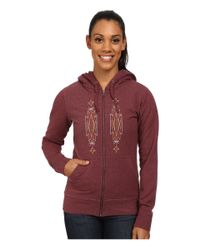 Patagonia - Purple Desert Roots Mid Weight Full-zip Hooded Sweatshirt - Lyst