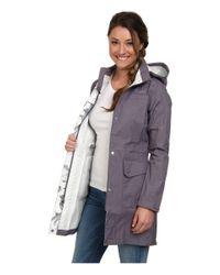 The North Face - Gray Quiana Rain Jacket - Lyst