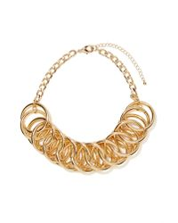 Nasty Gal - Metallic Let It Chain Collar Necklace - Lyst