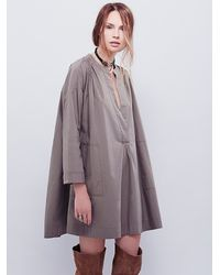 Free People | Gray Womens Crazy For You Tent Dress | Lyst