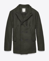 Billy Reid | Bond Peacoat - Heather Green for Men | Lyst