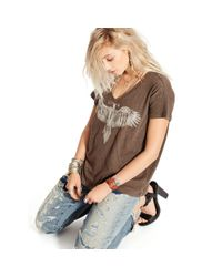 Denim & Supply Ralph Lauren - Brown Boyfriend-fit V-neck Tee - Lyst