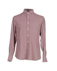 Salvatore Piccolo - Red Shirt for Men - Lyst