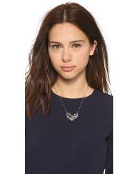 Alexis Bittar - Metallic Jagged Edge Crystal Framed Crescent Pendant Necklace - Lyst