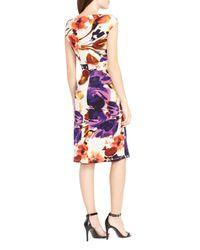 Ralph Lauren - Multicolor Lauren Floral Matte Jersey Dress - Lyst