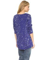 Generation Love - Wendy Oversized Paint Sweater - Dazzling Blue - Lyst