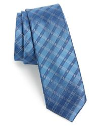 Calibrate | Blue 'bangka Grid' Silk Tie for Men | Lyst