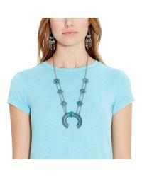 Polo Ralph Lauren - Blue Cotton Jersey Maxidress - Lyst