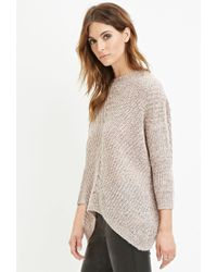 Forever 21 - Natural Contemporary Marled Knit Sweater - Lyst
