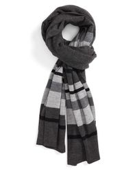 VINCE | Gray Stripe Wool Scarf for Men | Lyst