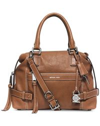 Michael Kors | Brown Michael Abby Medium Satchel | Lyst