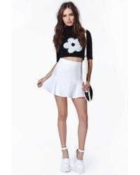 Nasty Gal - White Dancing On A Cloud Skirt - Lyst